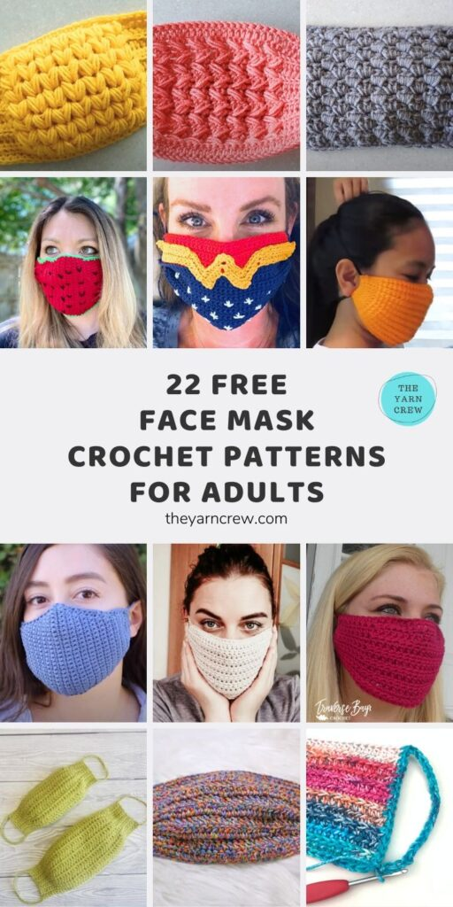 22 Free Face Mask Crochet Patterns For Adults Main Pinterest Pin Poster