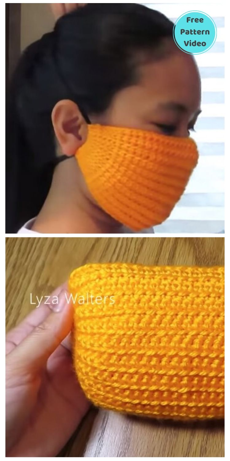 22 Free Face Mask Crochet Patterns For Adults PIN POSTER 19