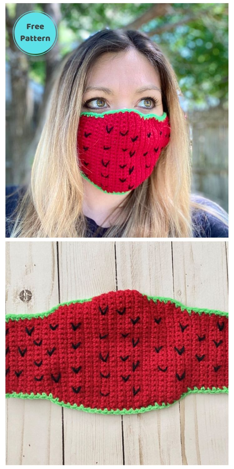 22 Free Face Mask Crochet Patterns For Adults PIN POSTER 20