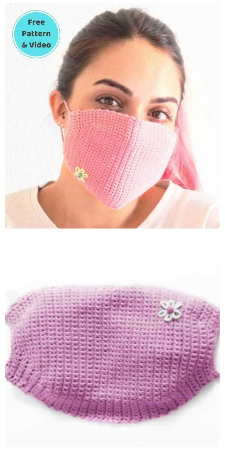 22 Free Face Mask Crochet Patterns For Adults PINTEREST POSTER 21