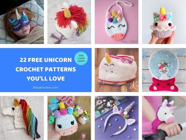 22 Free Unicorn Crochet Patterns You'll Love FACEBOOK POSTER
