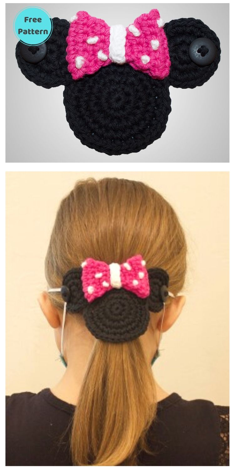 25 Free Ear Saver Crochet Patterns For Face Masks PIN POSTER 19
