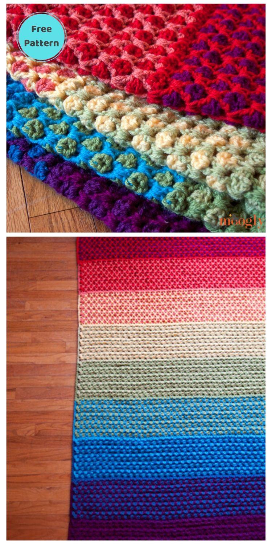 Best 19 Free Rainbow Blanket Crochet Patterns PIN POSTER 17