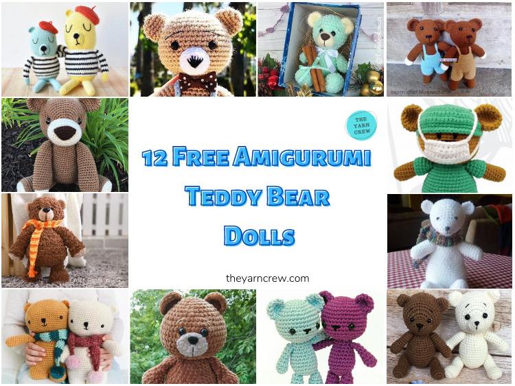 12-Free-Lovable-Amigurumi-Teddy-Bear-Dolls