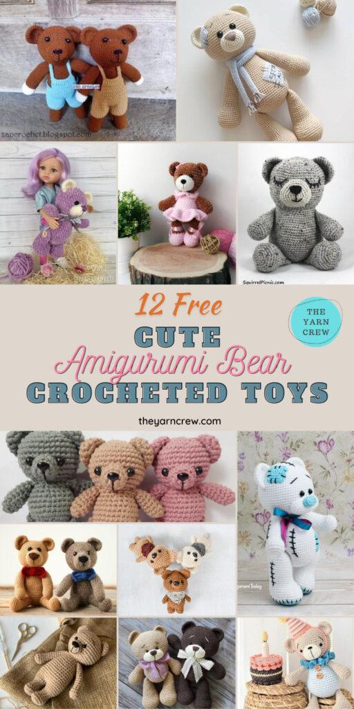 12 Free Adorable Amigurumi Bear Crocheted Toys - PIN3
