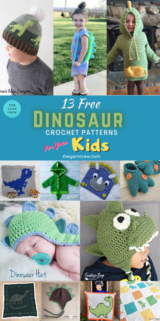 13 Free Dinosaur Crochet Patterns For Your Kids - PIN3