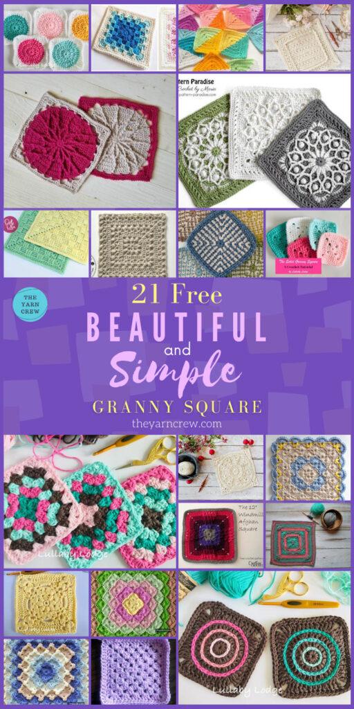21 Beautiful & Simple Granny Square Patterns - PIN3