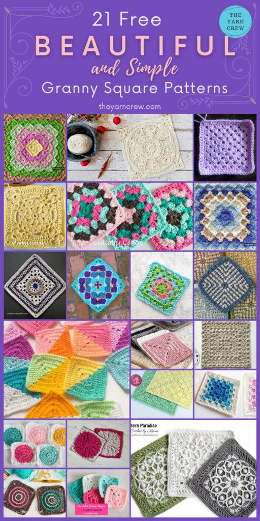 21 Beautiful & Simple Granny Square Patterns - PIN2