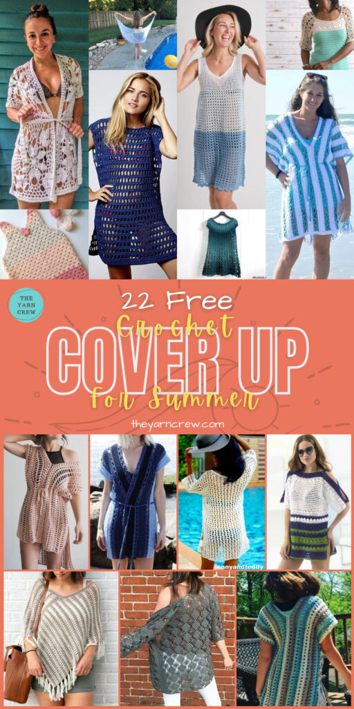 22 Free Crochet Cover Up Patterns For Summer - PIN3