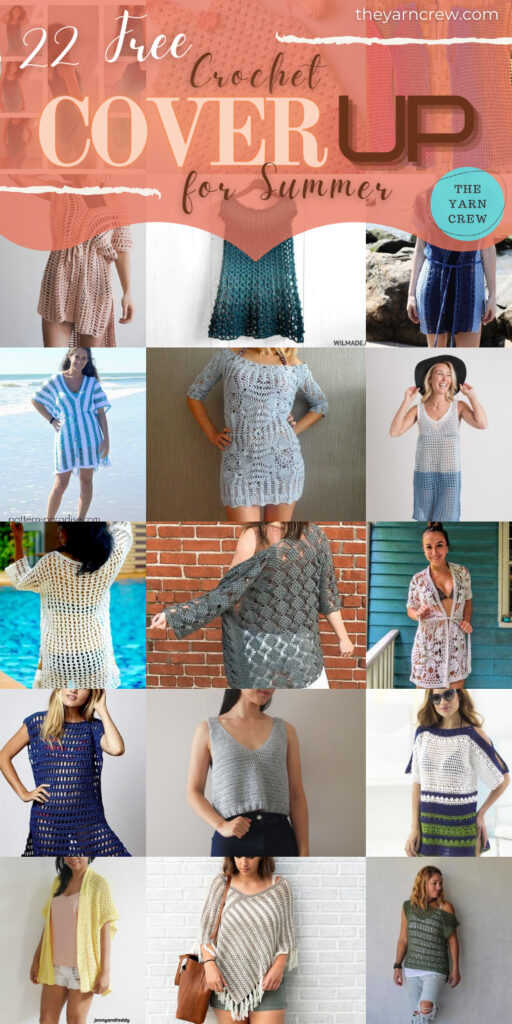 22 Free Crochet Cover Up Patterns For Summer - PIN2