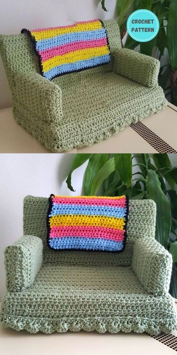 5 Crochet Cat Couch Patterns For Your Furry Friend PIN POSTER 2 (2)