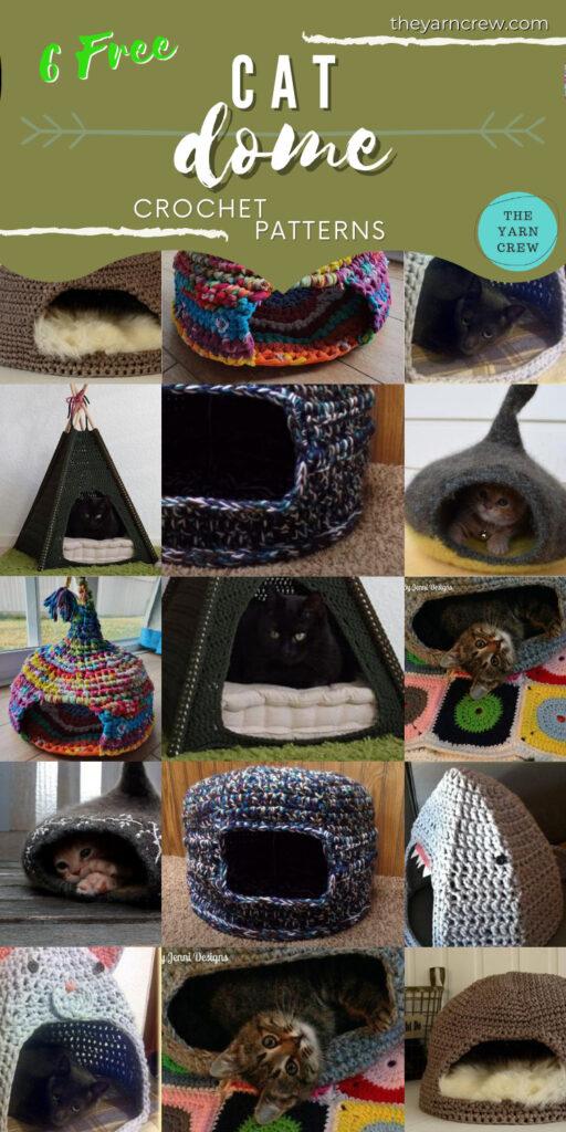 6 Free Crochet Cat Dome Patterns - PIN2
