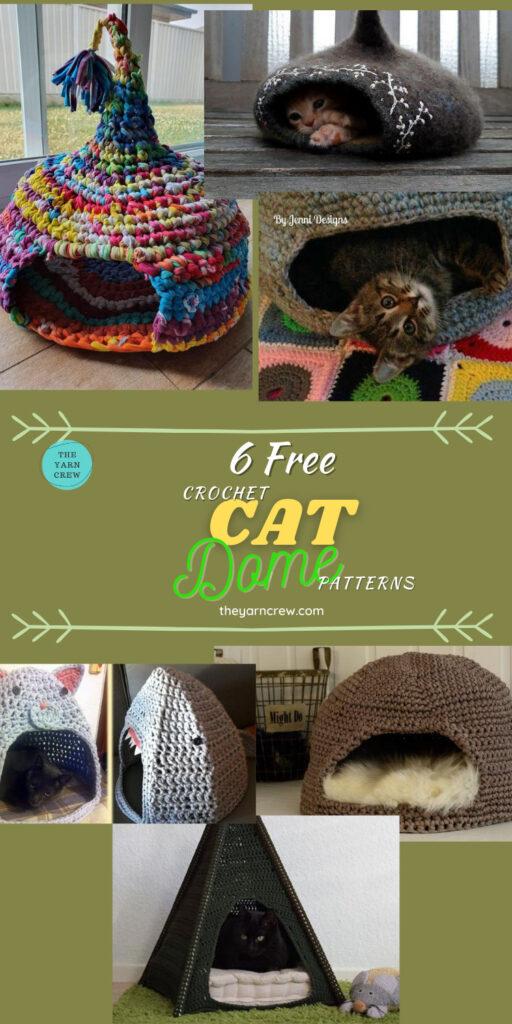 6 Free Crochet Cat Dome Patterns - PIN3