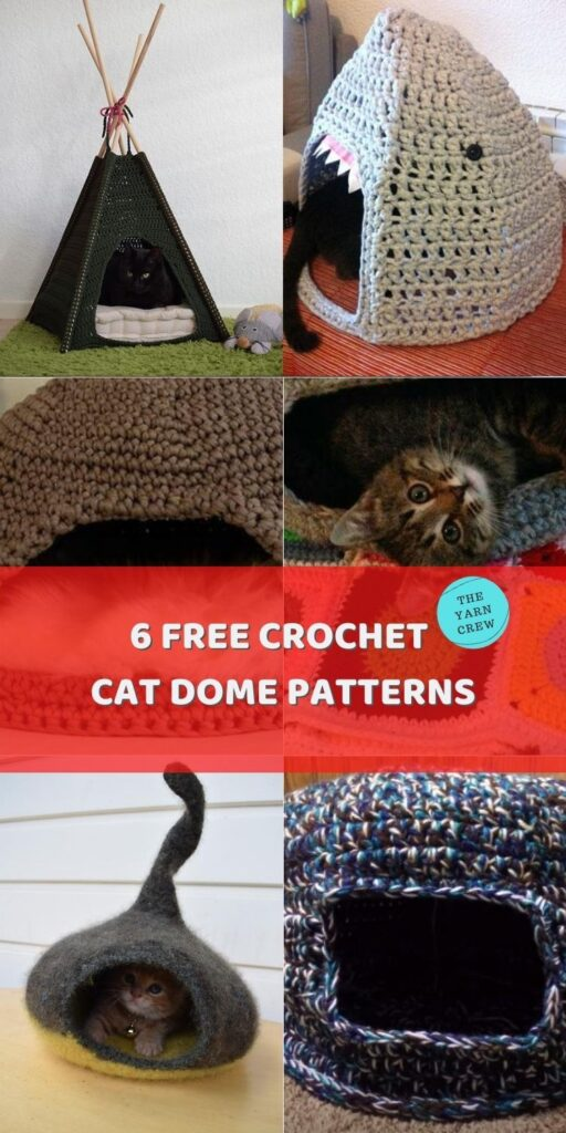 6 Free Crochet Cat Dome Patterns Main Pinterest Poster