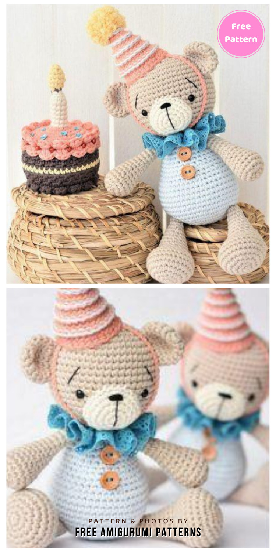Amigurumi Crochet Teddy Bear Free Pattern - 12 Free Cute Amigurumi Bear Crocheted Toys