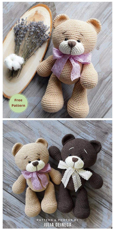 Amigurumi Plush Bear Free Crochet Pattern - 12 Free Cute Amigurumi Bear Crocheted Toys