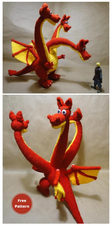 Amigurumi Snakes Dragon - 20 Free Amigurumi Dragon Dolls Crochet Patterns