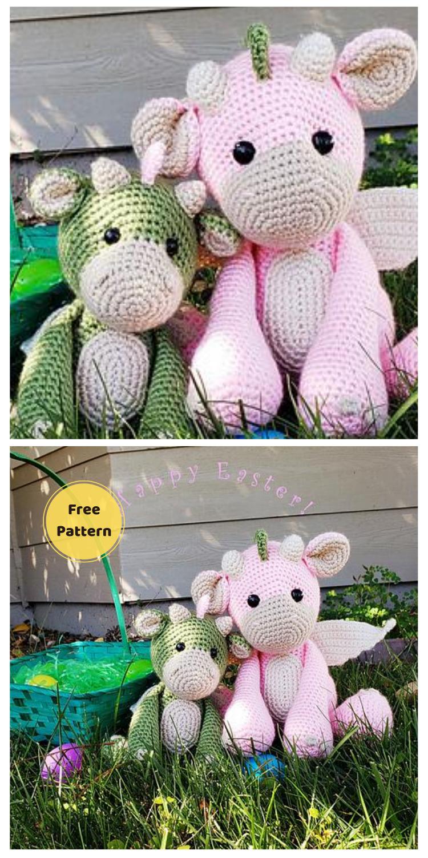 Cuddly Amigurumi - 20 Free Amigurumi Dragon Dolls Crochet Patterns