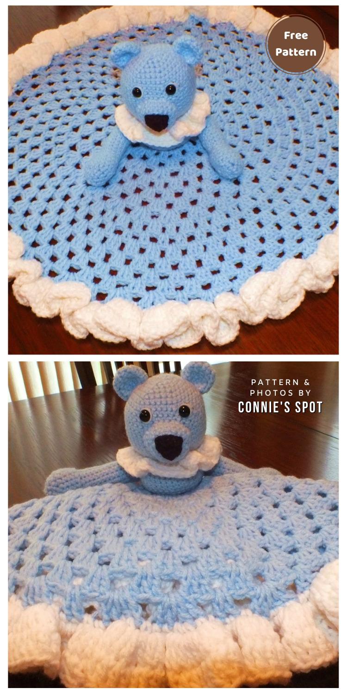 Free Teddy Bear Granny Circle Security Blanket Pattern - 12 Free Teddy Bear Baby Loveys