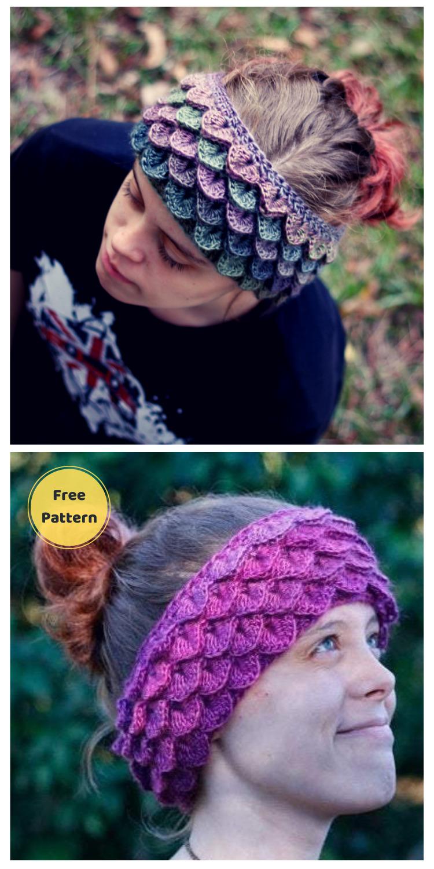 DRAGON SCALE EAR WARMERS – 10 Free Dragon Inspired Crochet Patterns You Can Wear