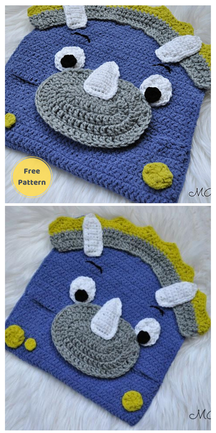 Dinosaur Pajama Eater -13 Free Dinosaur Crochet Patterns For Your Kids