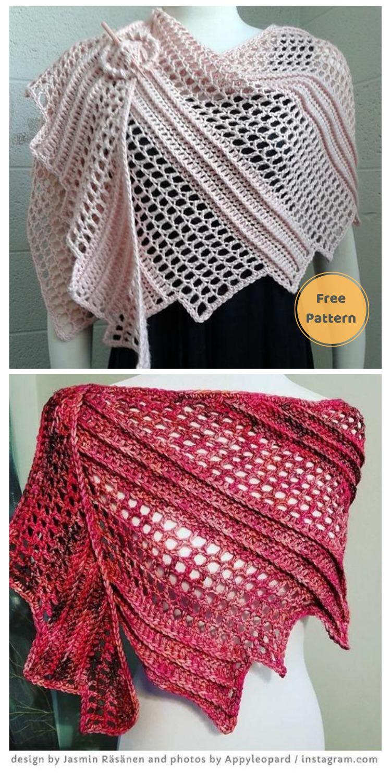 Dreamy's Dragon Wraps - 10 Free Dragon Inspired Crochet Patterns You Can Wear