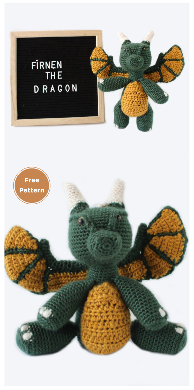 Fírnen The Dragon - 20 Free Amigurumi Dragon Dolls Crochet Patterns