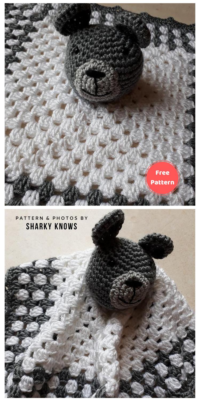 Beginner Teddy Bear Lovey - 12 Free Teddy Bear Baby Loveys