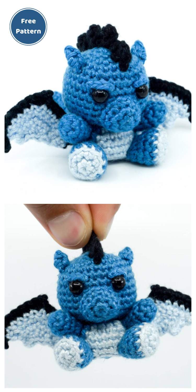 Amigurumi Crochet Dragon Pattern - 20 Free Amigurumi Dragon Dolls Crochet Patterns
