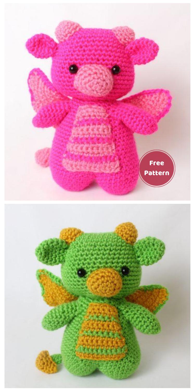 Free Dragon Amigurumi - 20 Free Amigurumi Dragon Dolls Crochet Patterns