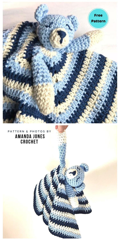 Crochet Baby Bear Snugglym - 12 Free Teddy Bear Baby Loveys