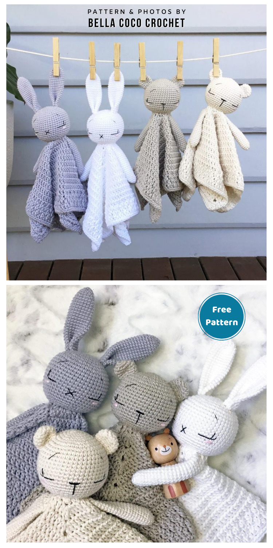 Interchangeable Lovey Blanket - 12 Free Teddy Bear Baby Loveys