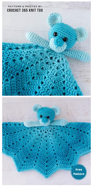 BLUE BABOO: A CROCHET LOVEY PATTERN - 12 Free Teddy Bear Baby Loveys