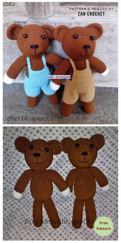 Teddy Bear - 12 Free Cute Amigurumi Bear Crocheted Toys