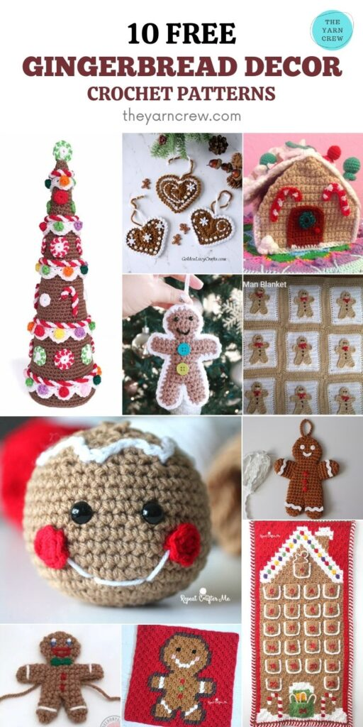 10 Free Fantastic Gingerbread Crochet Patterns For Your Home - PIN3