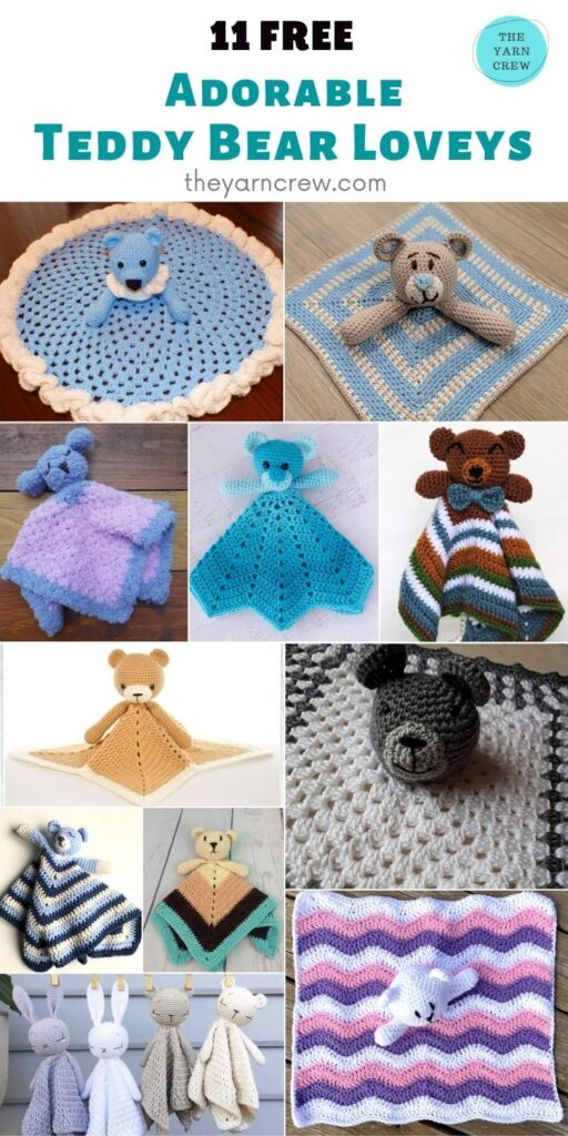 11 Free Adorable Teddy Bear Baby Loveys - PIN2