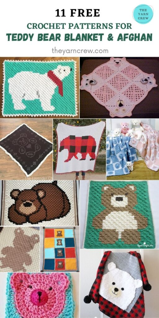 11 Free Adorable and Super Cute Teddy Bear Blankets & Afghans - PIN2