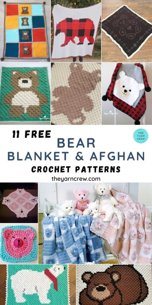 11 Free Awesome Teddy Bear Blankets & Afghans - PIN3