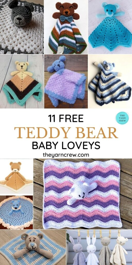 11 Free Hugable Teddy Bear Baby Loveys - PIN3