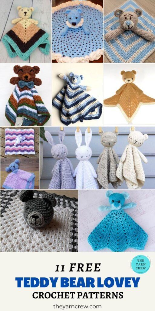 11 Free Teddy Bear Baby Loveys -PIN1