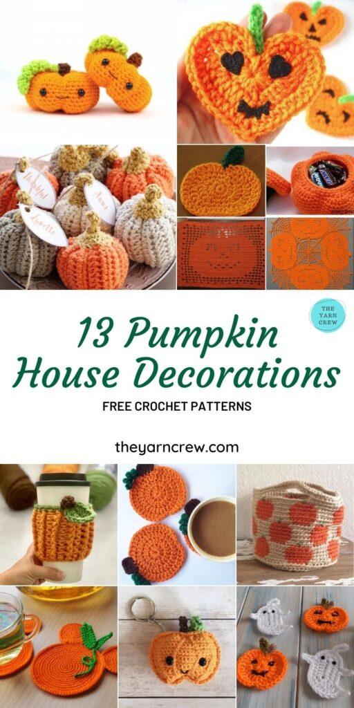 13 Free Mushy Crochet Pumpkin Patterns For Your Home - Pin 2