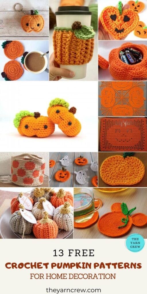 13 Pumpkin Home Decor Crochet Patterns - Pin 2