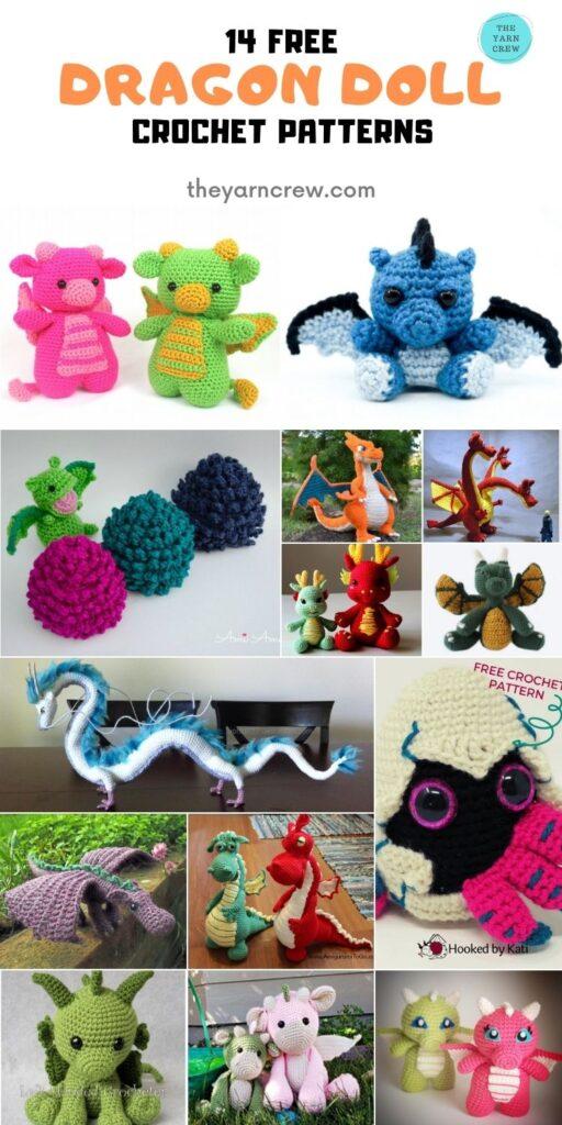 14 Free Fantastic Amigurumi Dragon Dolls Crochet Patterns -PIN2