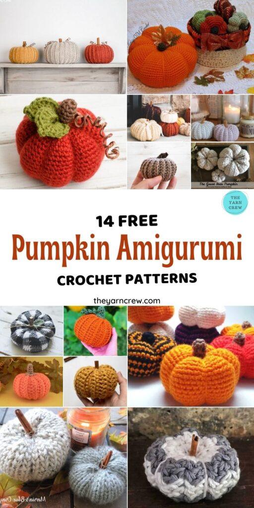 14 Free Fantastic Farmhouse Crochet Pumpkin Patterns - Pin3