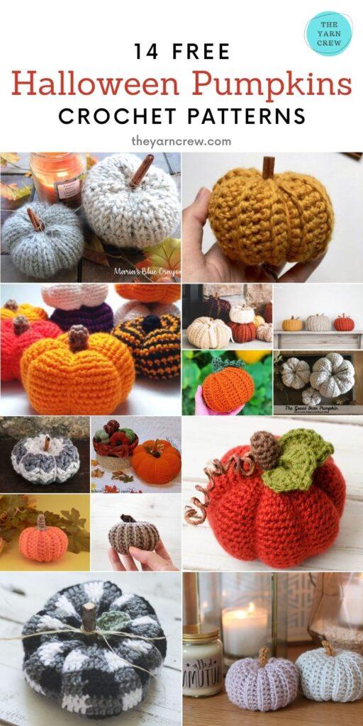 14 Free Spooky Farmhouse Crochet Pumpkin Patterns - Pin2