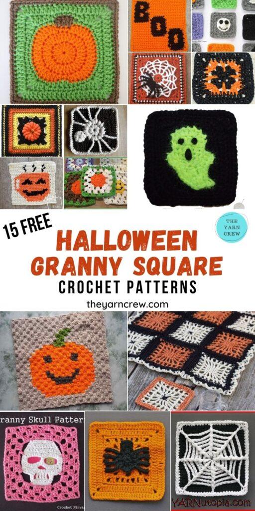 15 Free Amazing Halloween Granny Squares Crochet Patterns - PIN2