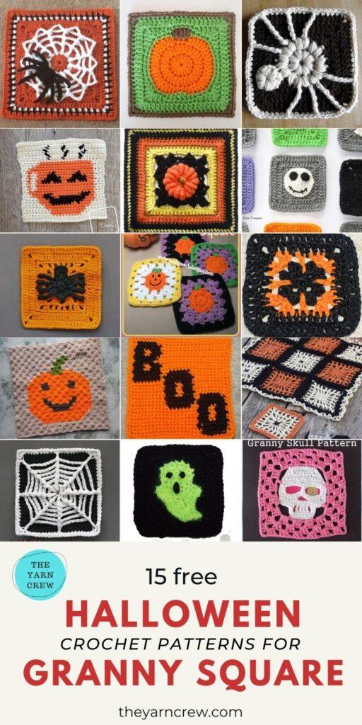 15 Free Spooktacular Halloween Granny Squares Crochet Patterns