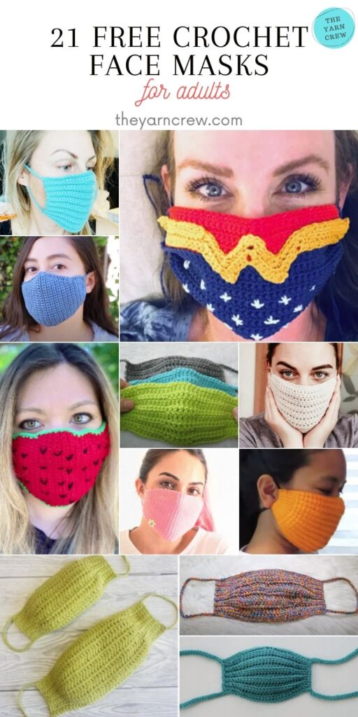 21 Free Crochet Face Masks For Adults - Pin 1