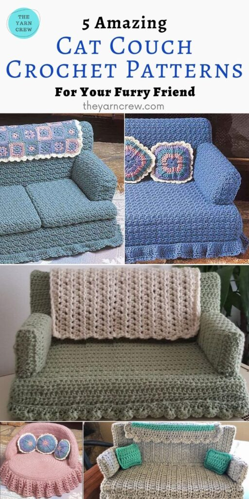 5 Amazing Cat Couch Patterns For Your Furry Friend - PIN2