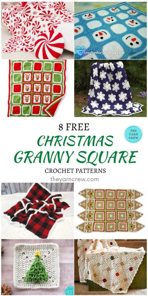 _8 Free Beautiful Granny Square Christmas Blankets & Afghans - PIN2